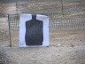 Not my qualifying target...this is at the gun range at 25 yards.