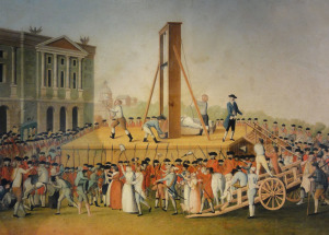 Marie Antoinette's execution on October 16, 1793 (from here)